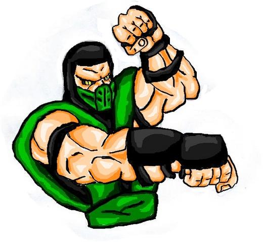 File:Mortal Kombat ll Arcade Art Reptile.png