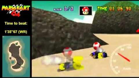 """Mario Kart 64 WR 1'35""""65 Koopa Troopa Beach"""