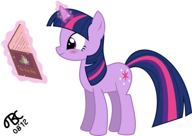 File:Twilight sparkle blushes while reading by tbcroco-d5awq62.png