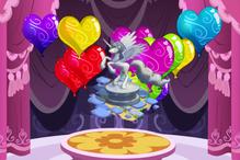 Heart gem balloon pop