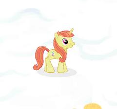 Fashionable Unicorn Character Image