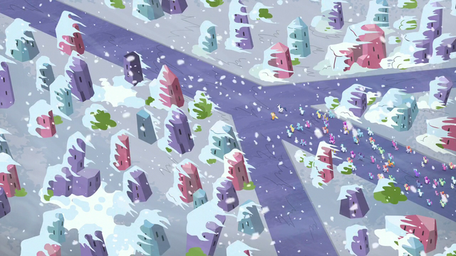 File:An overhead shot of the crystal ponies being evacuated S6E2.png