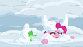 Pinkie and Gummy covered in more snow S7E11.png