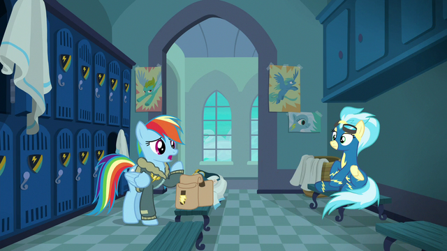 """File:Rainbow """"you love yelling and blowing your whistle"""" S6E24.png"""