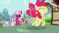 Cheerilee and her students follow Apple Bloom S2E06