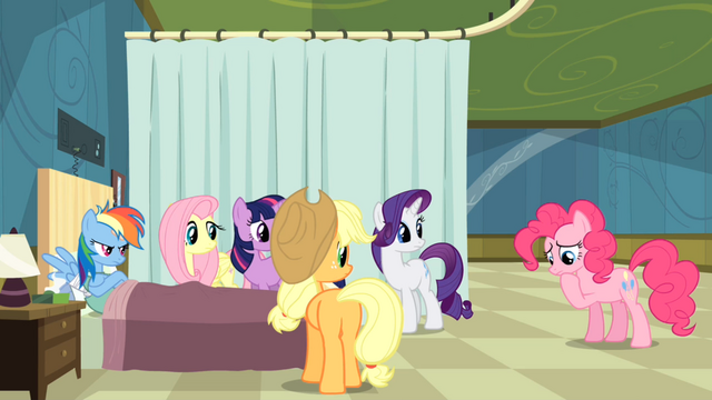 File:Others staring at Pinkie Pie S2E16.png