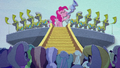 Pinkie blows flugelhorn with royal horn blowers BFHHS3.png
