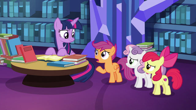 "File:Scootaloo ""Gabby flew all the way here"" S6E19.png"