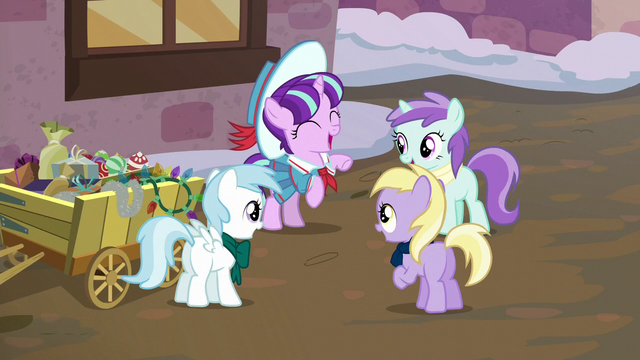 File:Young Snowfall Frost happy to see her friends S6E8.png