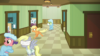 Applejack runs around looking for Big Mac S6E23