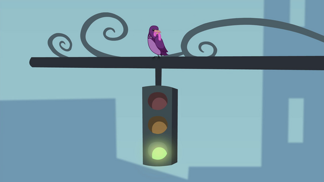 File:Bird perched on a traffic light EG2.png