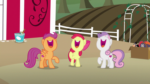 File:Cutie Mark Crusaders laughing together S7E8.png