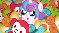 Flurry Heart pops out of the mess of toys S7E3.png