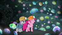 Pinkie Pie presents gems to Maud Pie S7E4