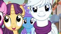 Trixie worried about Starlight behind the villagers S6E25