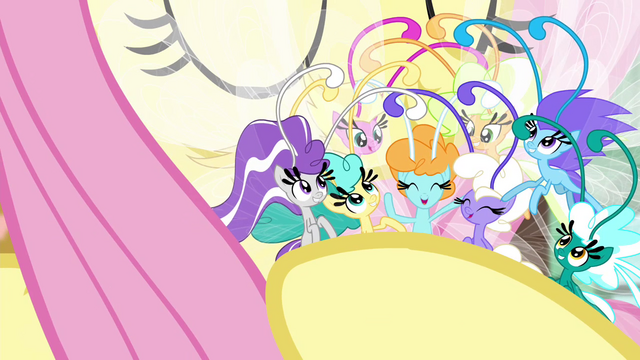 File:Breezies happy in Fluttershy's embrace S4E16.png
