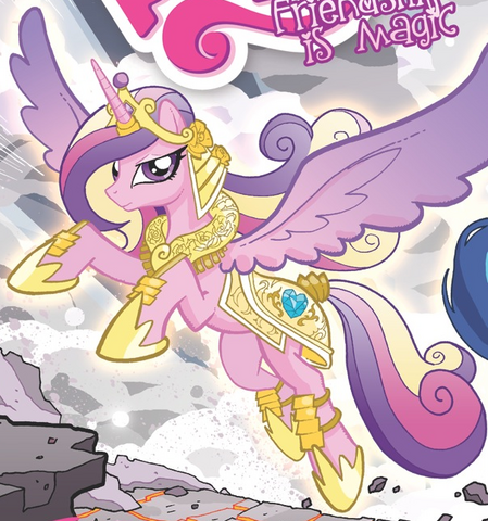 File:Comic issue 6 Princess Cadance battle armor.png