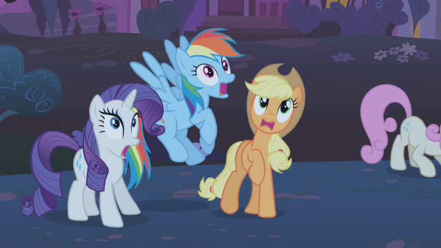 File:Rarity, RD, and Applejack frightened S1E06.png