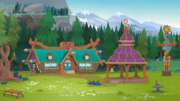 Legend of Everfree background asset - Camp Everfree square