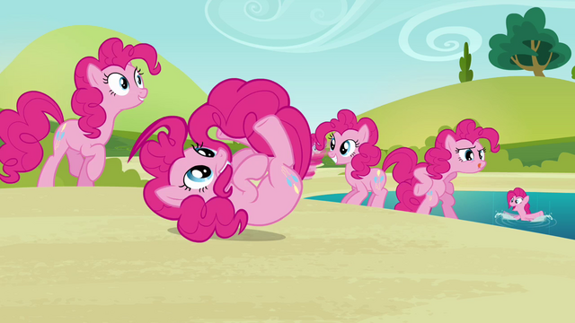 File:Pinkie Pie clones playing around 2 S3E03.png