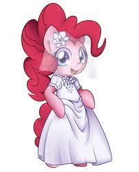 File:FANMADE Pinkie Pie in a wedding dress.jpg