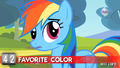 """Hot Minute with Rainbow Dash """"is rainbow a color?"""".png"""
