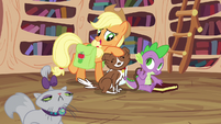 Applejack and happy Winona S03E11