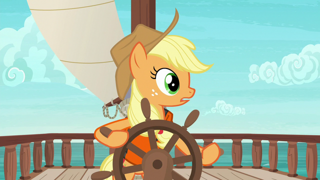 File:Applejack hears Pinkie Pie laughing S6E22.png
