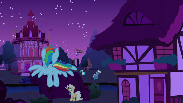 File:Rainbow flying toward Ponyville town hall S6E15.png