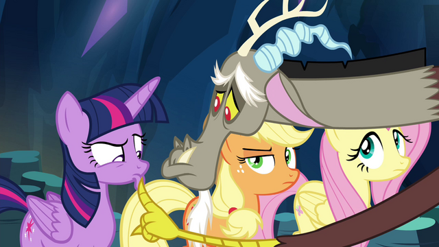 File:Discord lowers Twilight's lip into a pout S4E25.png