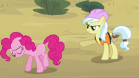 Pinkie Pie walking off construction site S4E12