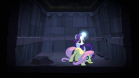 Rarity's horn glowing S04E03