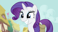 Rarity with a big grin S4E23