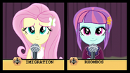 Fluttershy and Sunny Flare in spelling bee EG3
