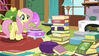 Fluttershy monitoring Angel Bunny S7E5