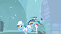 Rainbow kicks the pipe away S5E5