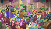 Wide view of Daring Do convention hall S6E13