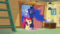 Apple Bloom and Luna enter dream clubhouse S5E4
