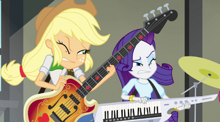 Applejack and Rarity squinting EG2.png