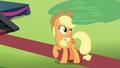 Applejack overhears Pinkie Pie S5E24.png