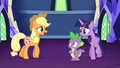 Applejack walks up to Twilight and Spike S5E16.png
