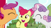 Cutie Mark Crusaders talking all at once S7E8