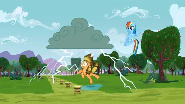File:Applejack being struck by lightning 2 S3E8.png