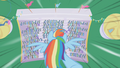 Rainbow Dash flying toward the crowd S1E03.png