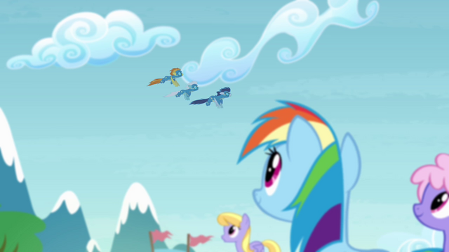 File:Rainbow seeing the Wonderbolts flying S4E10.png