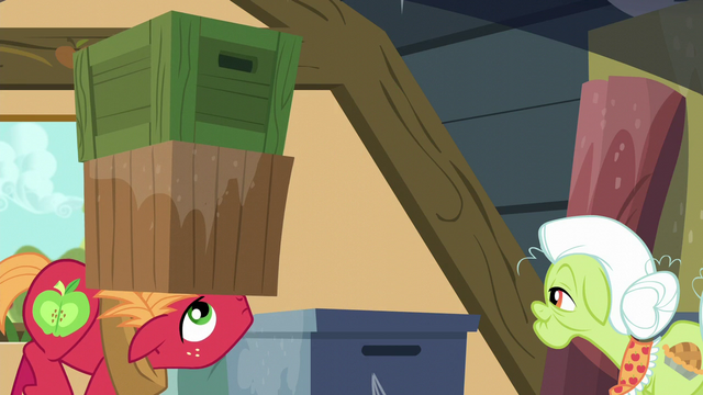 File:Big Mac lifts a stack of boxes with his head S5E17.png