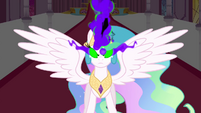Celestia with King Sombra-like eyes S3E01
