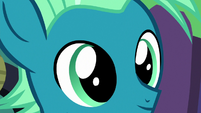 Close-up on young Sky Stinger's face S6E24