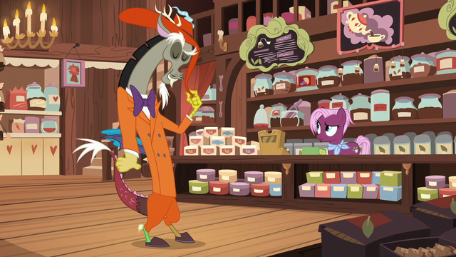 File:Discord wearing his jazz club suit S7E12.png