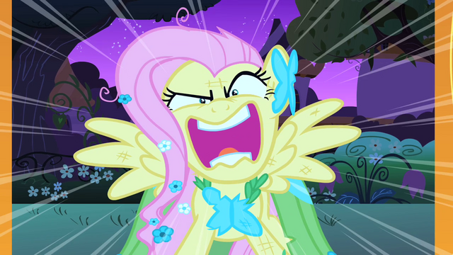 "File:Fluttershy ""You're going to LOVE ME!"" S1E26.png"